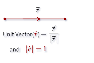 The value and direction of the unit vector